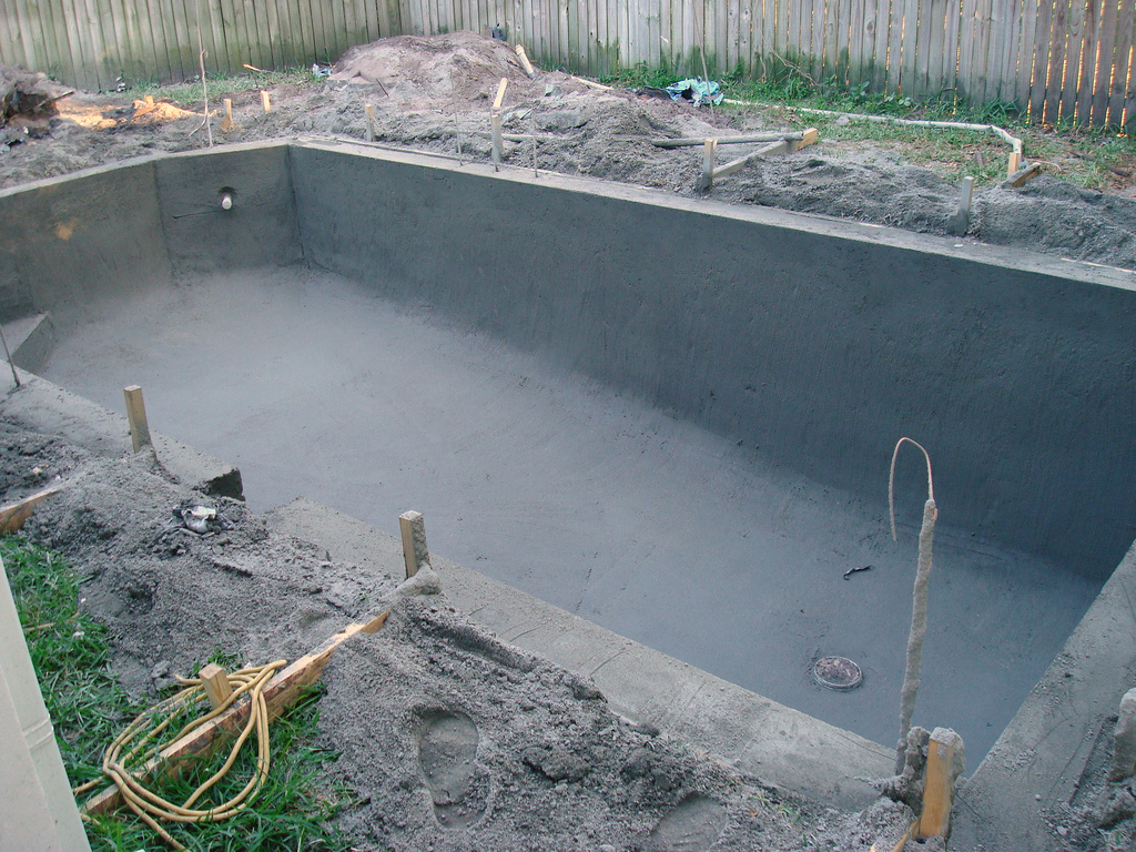 Top pool installation